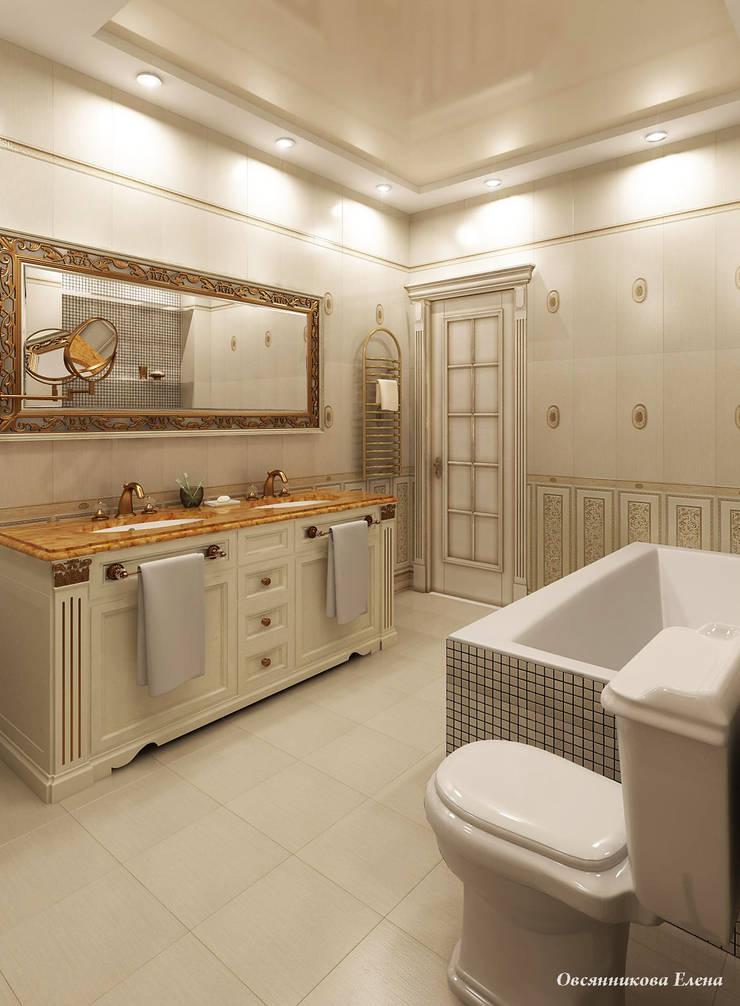 Квартира в г. Киров: Ванные комнаты в . Автор – Елена Овсянникова