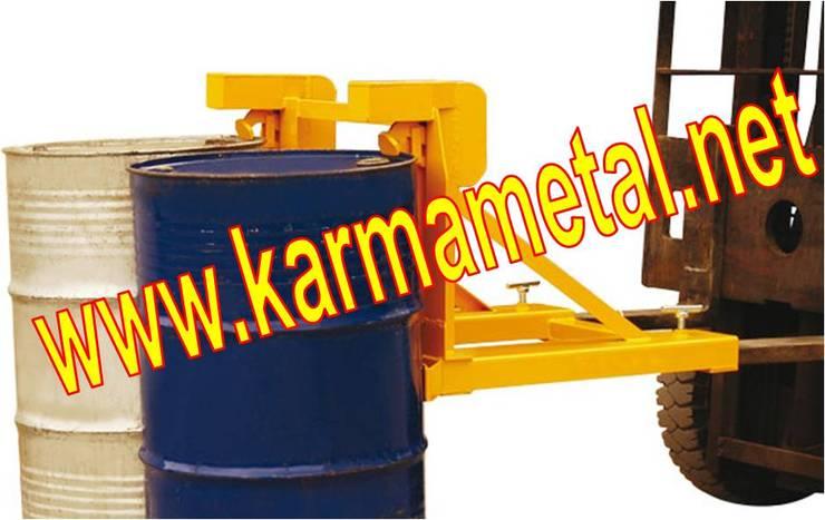 KARMA METAL – KARMA METAL-forklift varil taşıma kaldırma çevirme ataşmanı aparatı:  tarz Mutfak, Endüstriyel