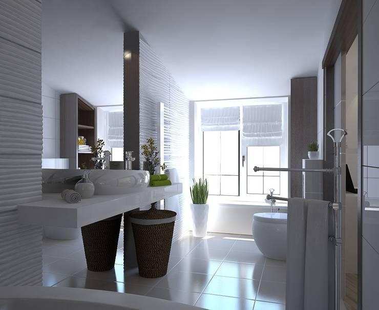 Проект в таунхаусе. Санузел: Ванные комнаты в . Автор – Виталия Бабаева и Дарья Дикая,