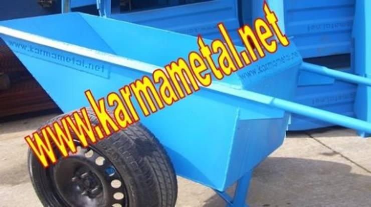 KARMA METAL – KARMA METAL – Japon Tipi İnşaat Harç Taşıma Arabası Çift Tekerlekli El Arabaları:  tarz Banyo