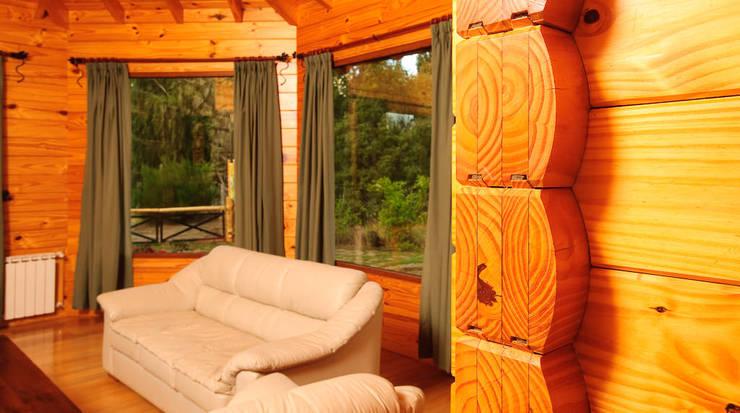 Casa Amancay Ι San Martín de los Andes, Neuquén. Argentina.: Livings de estilo  por Patagonia Log Homes - Arquitectos - Neuquén