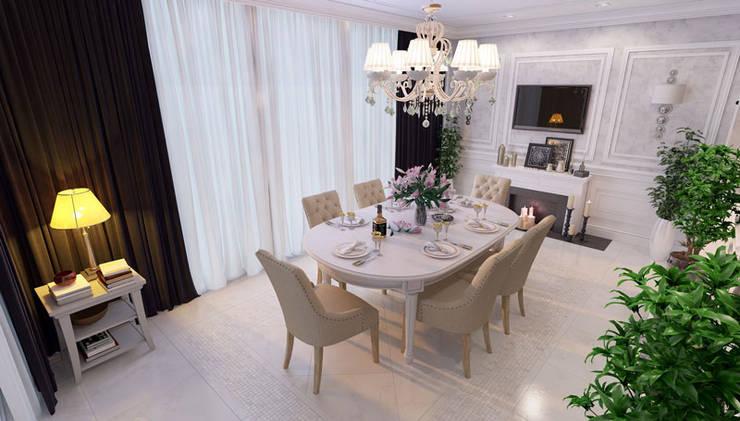 Частный дом (Краснодар): Столовые комнаты в . Автор – Mushulov Project