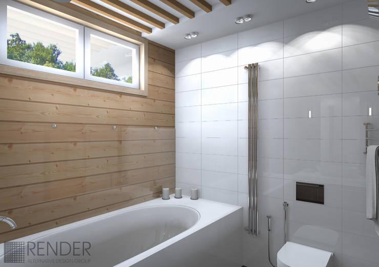 ДИЗАЙН ВАННОЙ КОМНАТЫ: Ванные комнаты в . Автор – RENDER