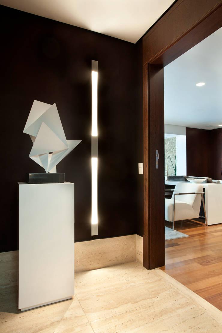 Apartamento em Moema: Corredores e halls de entrada  por Liliana Zenaro Interiores