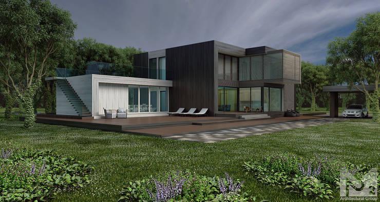 загородный дом 250м2: Дома в . Автор – ALEXANDER ZHIDKOV ARCHITECT