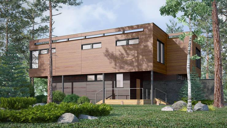Дом на Николиной горе: Дома в . Автор – Studio of Architecture and Design 'St.art',