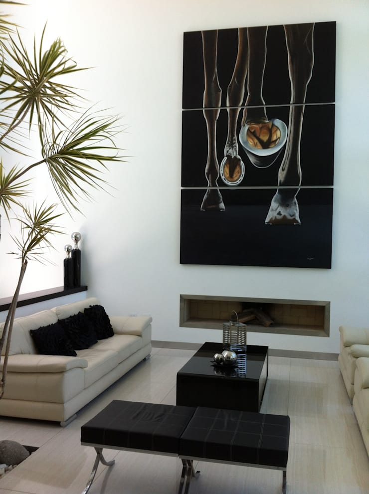 Salones de estilo  de ARKIZA ARQUITECTOS by Arq. Jacqueline Zago Hurtado