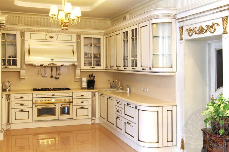 Двери из натурального ясеня: Кухни в . Автор – Lesomodul,