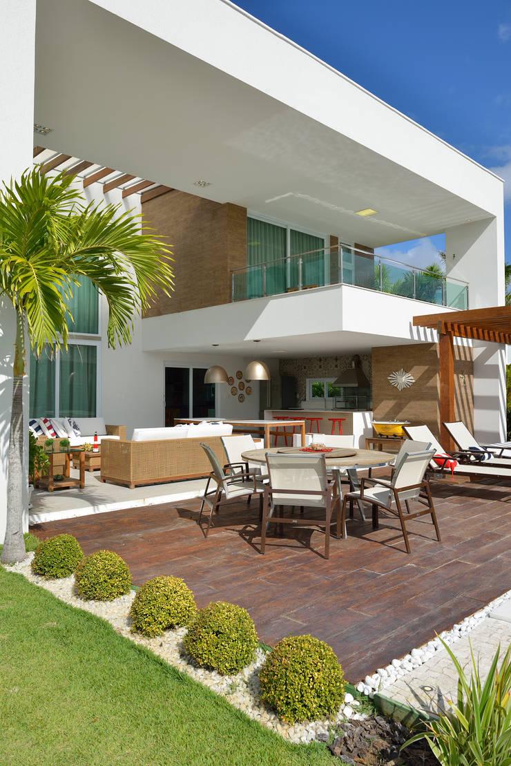 Área de lazer: Terraços  por Pinheiro Martinez Arquitetura