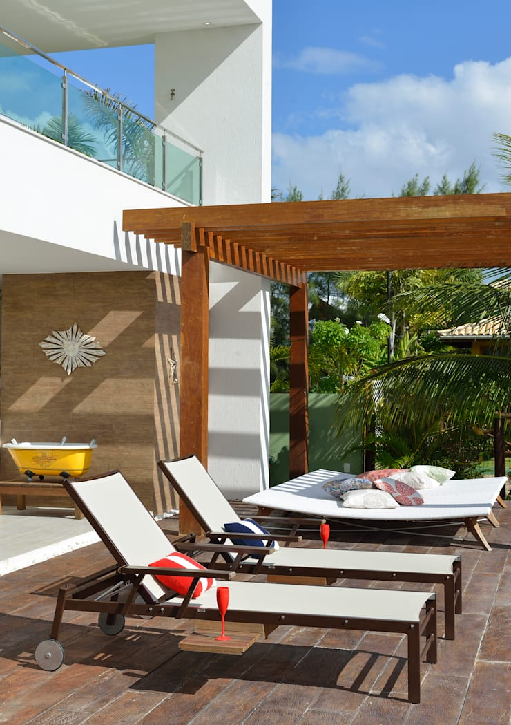 Deck: Terraços  por Pinheiro Martinez Arquitetura