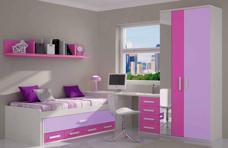 Dormitorio juvenil completo: Dormitorios infantiles de estilo  de CREA Y DECORA MUEBLES