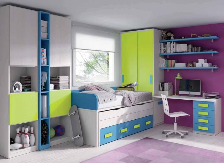 Composición juvenil: Dormitorios infantiles de estilo moderno de CREA Y DECORA MUEBLES