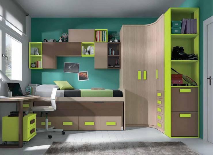 Dormitorio infantil completo rosa/malva: Dormitorios infantiles de estilo  de CREA Y DECORA MUEBLES