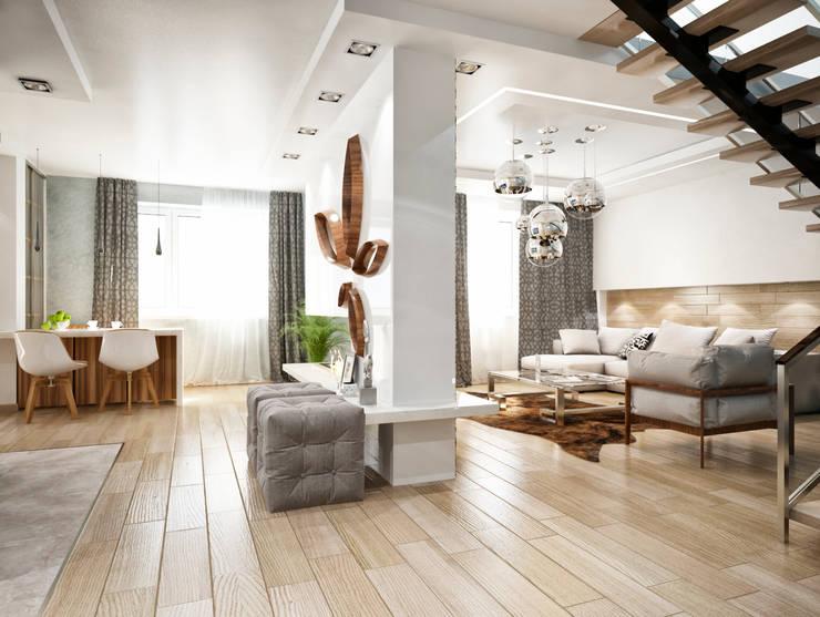 Гостиная: Гостиная в . Автор – Студия архитектуры и дизайна ДИАЛ