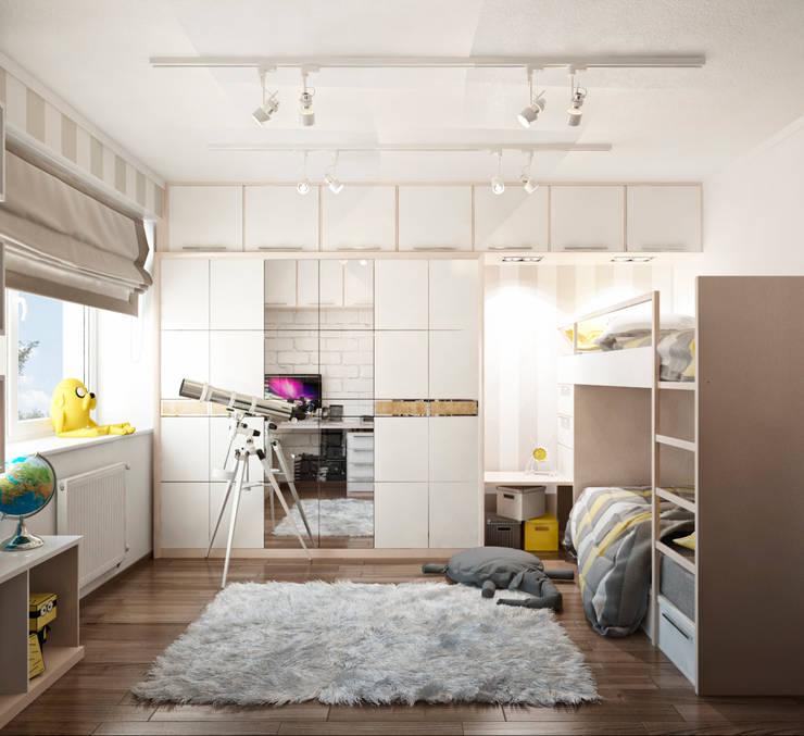 Двухэтажная квартира в современном стиле для молодой семьи : Детские комнаты в . Автор – Студия архитектуры и дизайна ДИАЛ