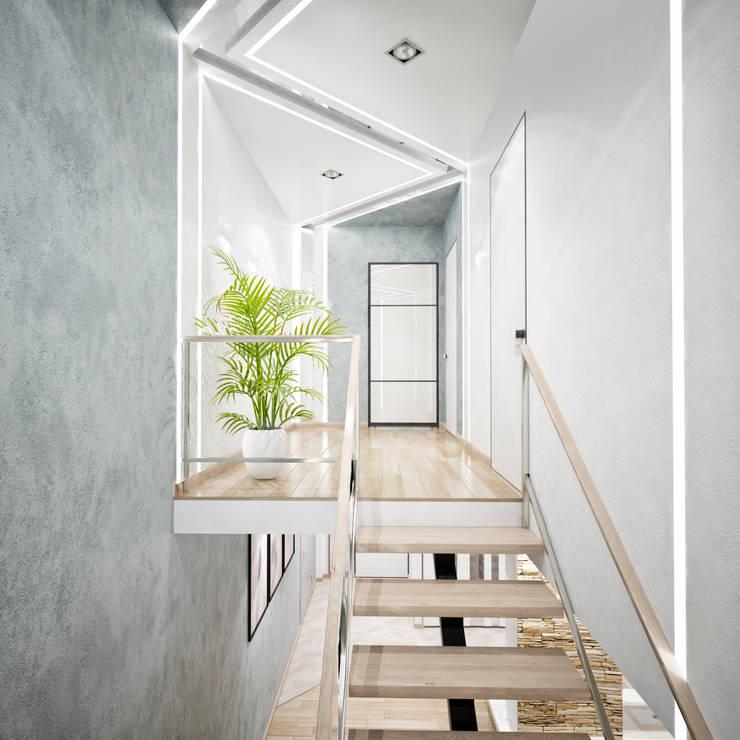 Двухэтажная квартира в современном стиле для молодой семьи : Коридор и прихожая в . Автор – Студия архитектуры и дизайна ДИАЛ