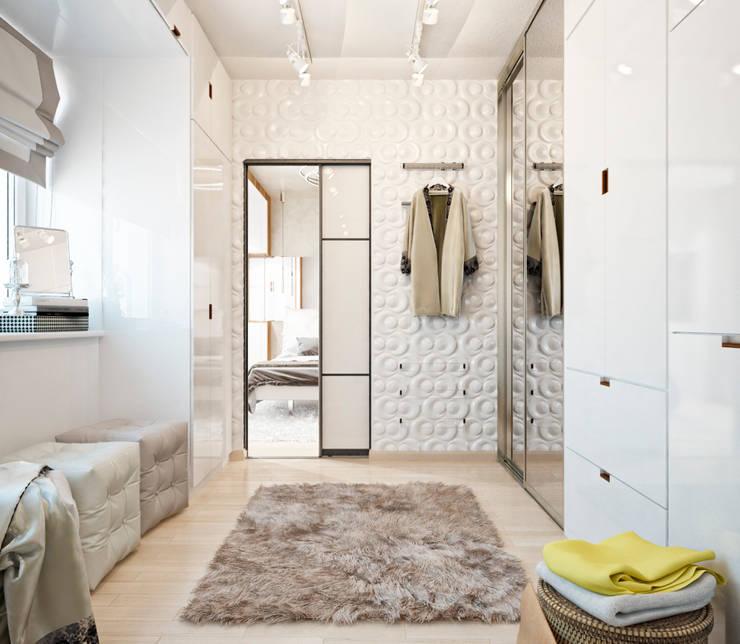 Двухэтажная квартира в современном стиле для молодой семьи : Гардеробные в . Автор – Студия архитектуры и дизайна ДИАЛ