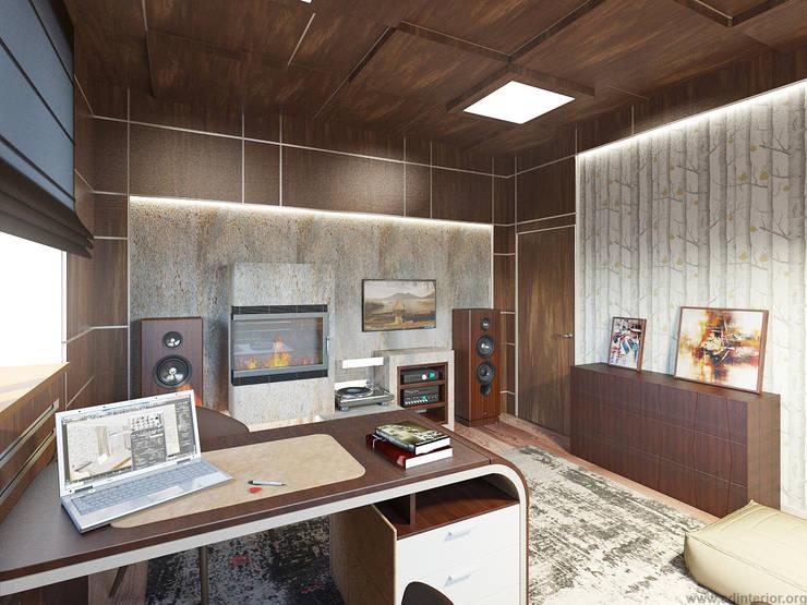 Кабинет хозяина: Рабочие кабинеты в . Автор – A&D-interior, Эклектичный