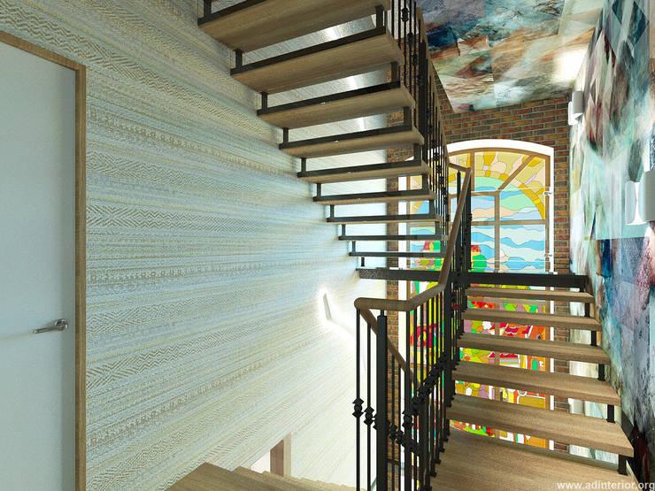 Лестничный холл: Коридор и прихожая в . Автор – A&D-interior, Эклектичный