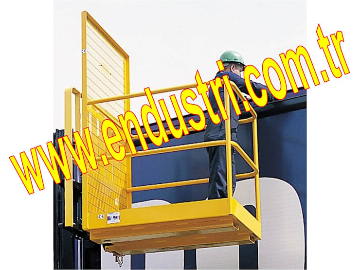ENDÜSTRİ GRUP – ENDÜSTRİ GRUP - Forklift Personel Adam Taşıma ilkyardım Sepeti:  tarz Multimedya Odası, Endüstriyel