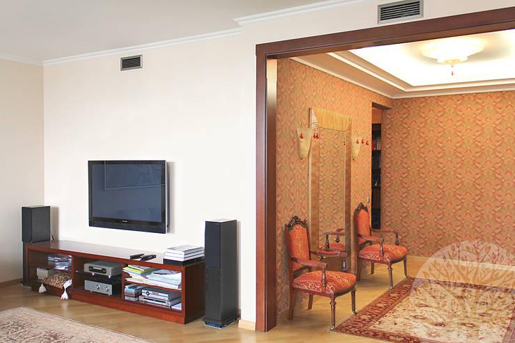 Интерьер с элементами : Гостиная в . Автор – Lesomodul