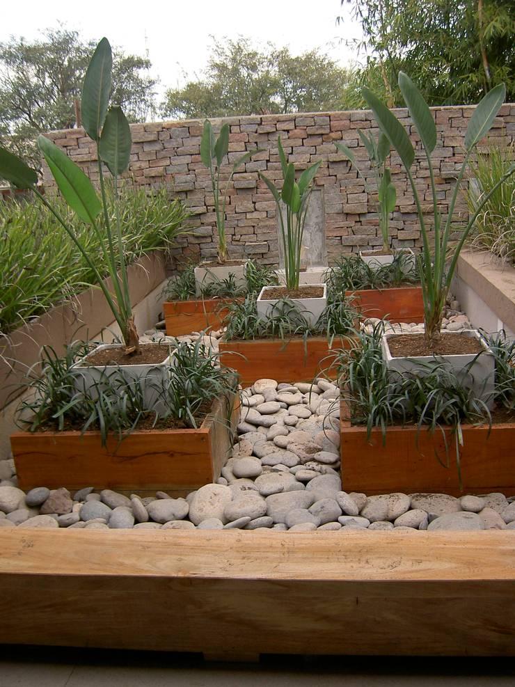 terrazas: Jardines de estilo  por BAIRES GREEN MUEBLES