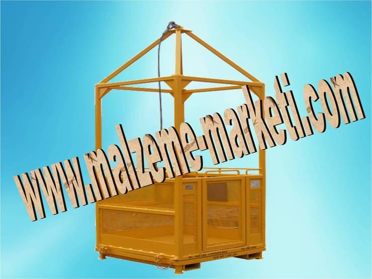 Malzeme Marketi – Malzeme Marketi- Kule Vinç Adam Taşıma Sepeti:  tarz Multimedya Odası, Endüstriyel