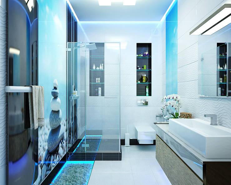 Ванная комната: мужской и женский интерьер: Ванные комнаты в . Автор – Студия дизайна Interior Design IDEAS