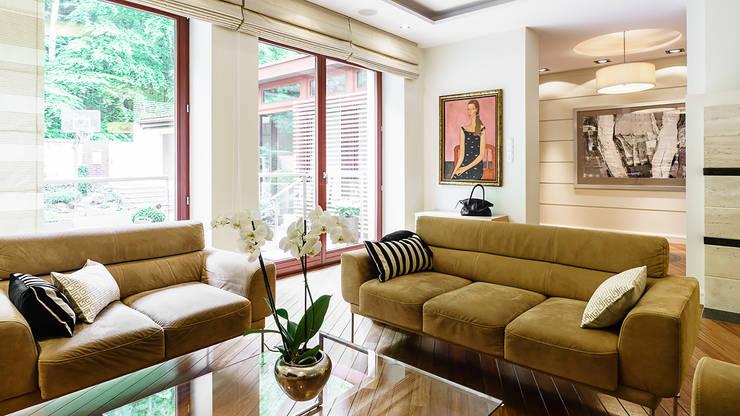 DOM JEDNORODZINNY - SOPOT: styl , w kategorii Salon zaprojektowany przez Anna Serafin Architektura Wnętrz