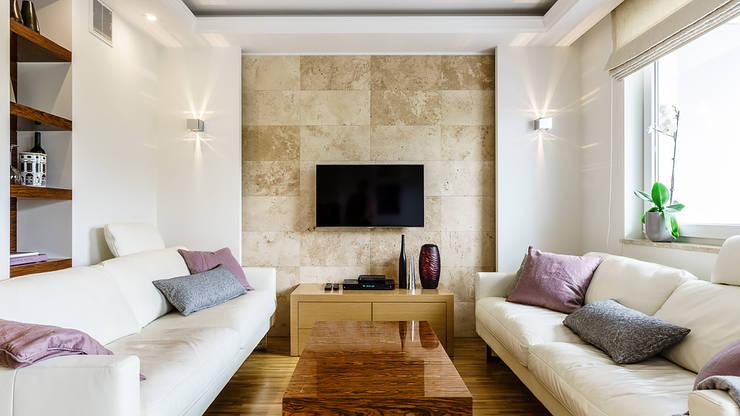APARTAMENT - AVIATOR - GDAŃSK: styl , w kategorii Salon zaprojektowany przez Anna Serafin Architektura Wnętrz