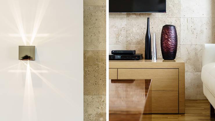 APARTAMENT – AVIATOR – GDAŃSK: styl , w kategorii Salon zaprojektowany przez Anna Serafin Architektura Wnętrz