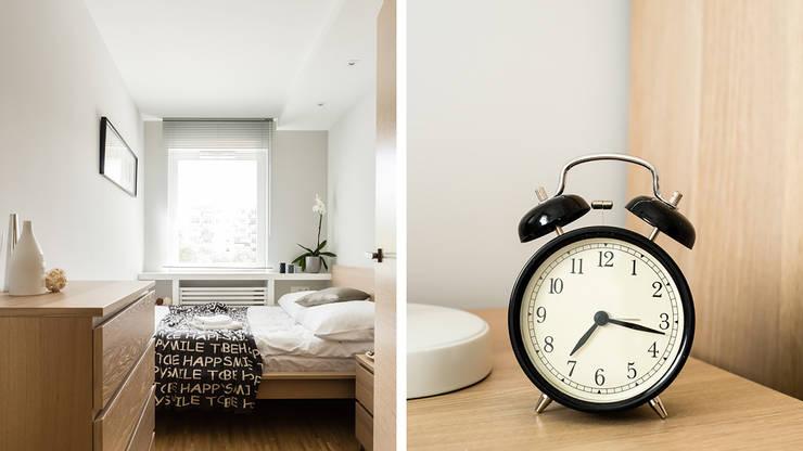 MIESZKANIE WAKACYJNE STYL SKANDYNAWSKI – AVIATOR – GDAŃSK: styl , w kategorii Sypialnia zaprojektowany przez Anna Serafin Architektura Wnętrz