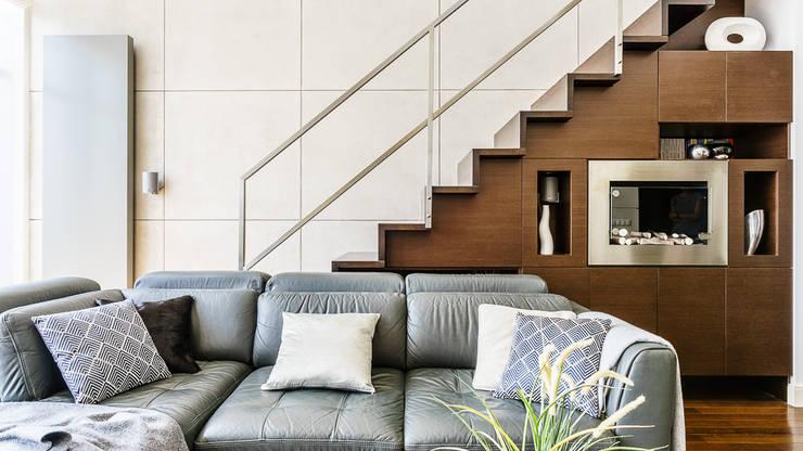 LOFT – ALTORIA – GDYNIA: styl , w kategorii Salon zaprojektowany przez Anna Serafin Architektura Wnętrz,Nowoczesny