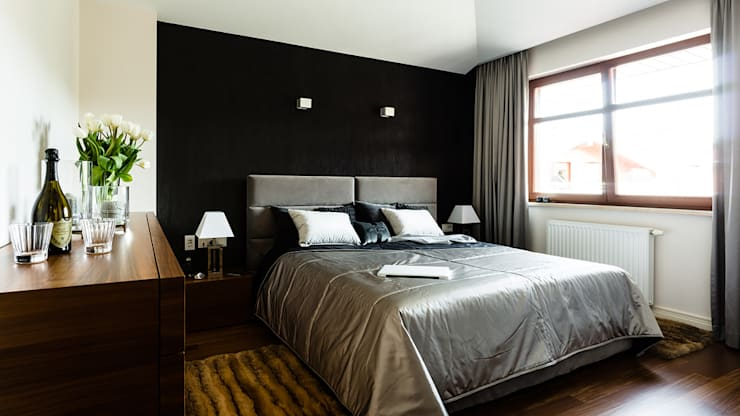 modern Bedroom by Anna Serafin Architektura Wnętrz