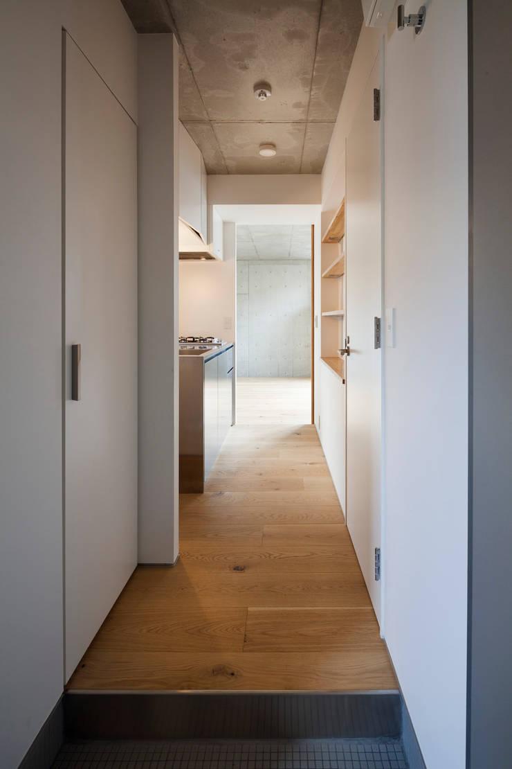 ワンルーム住戸Aキッチン: HAN環境・建築設計事務所が手掛けたキッチンです。,