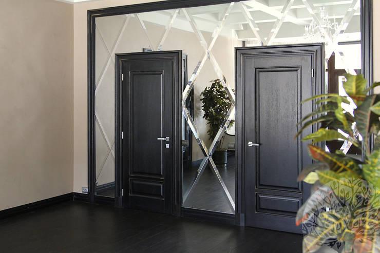 Состаренные двери из дуба: Окна и двери в . Автор – Lesomodul