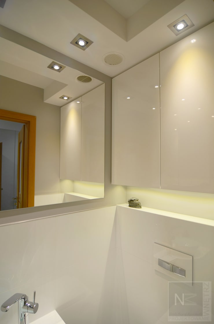 metamorfoza wc: styl , w kategorii Łazienka zaprojektowany przez Suare Studio  Natalia Margraf-Wojciechowska