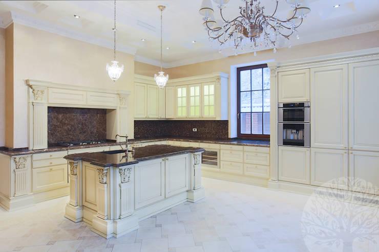 Элегантная кухня в классическом стиле: Кухня в . Автор – Lesomodul