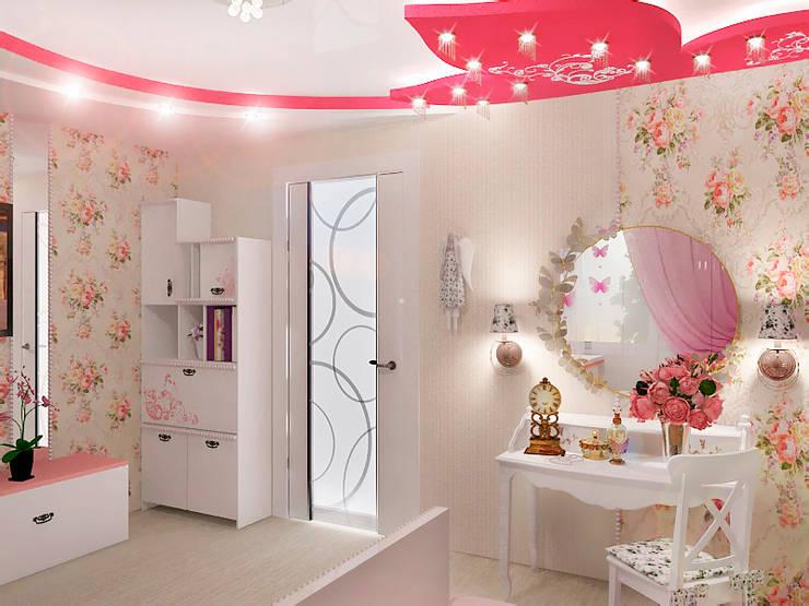 Детская для маленькой принцессы: Детские комнаты в . Автор – ПРОЕКТНАЯ СТУДИЯ Ирины Щуровой ДОМ,