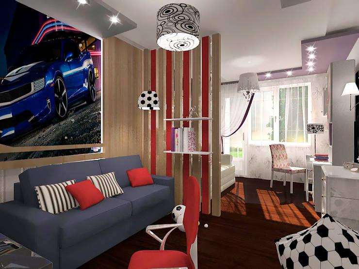 Совместная комната для мальчика и девочки: Детские комнаты в . Автор – ПРОЕКТНАЯ СТУДИЯ Ирины Щуровой ДОМ