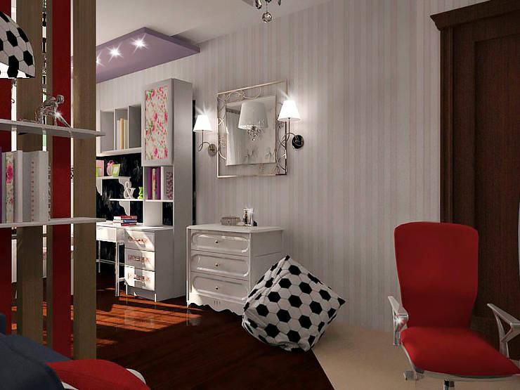 Совместная комната для мальчика и девочки: Детские комнаты в . Автор – ПРОЕКТНАЯ СТУДИЯ Ирины Щуровой ДОМ,