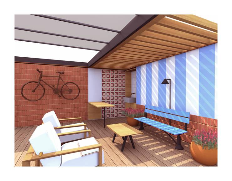 Reforma de una terraza: Terrazas de estilo  de Ivan Gas Chulbi