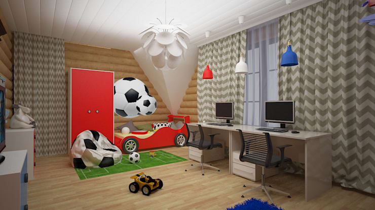 Nursery/kid's room by дизайн-бюро ARTTUNDRA