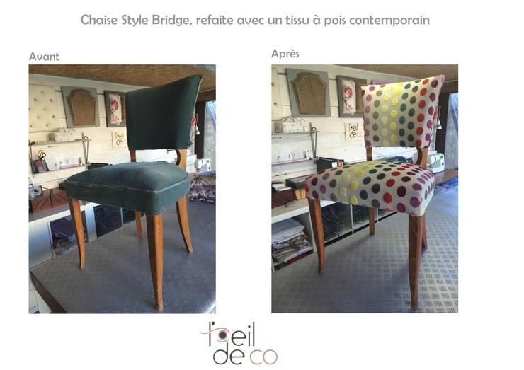 Chaise Bridge Tissu A Pois