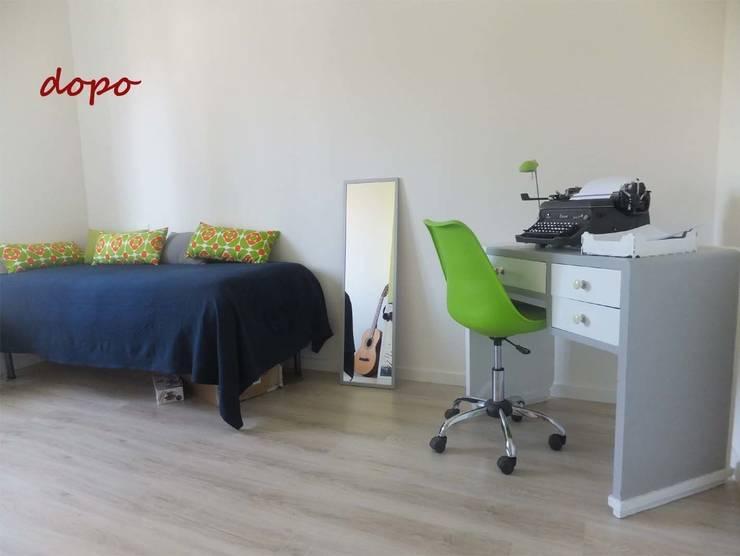 Camera da letto DOPO:  in stile  di EFFEtto Home Staging