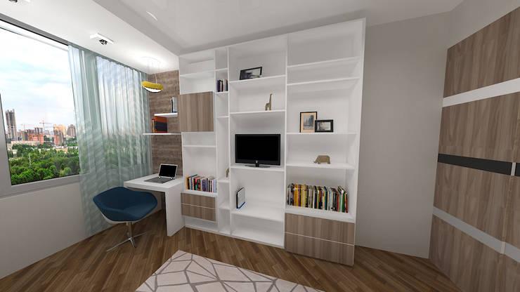 Сумасшедшая перепланировка из офиса в квартиру: Детские комнаты в . Автор – дизайн-бюро ARTTUNDRA