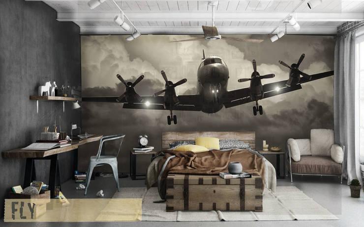 Paredes y pisos de estilo industrial por Creativespace