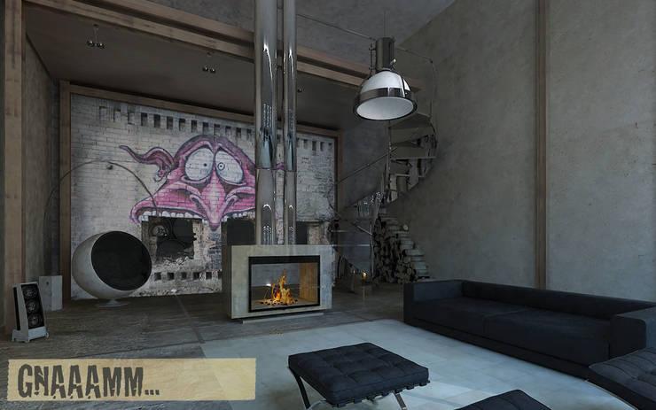 gnammmm!!: Pareti & Pavimenti in stile in stile Eclettico di Creativespace