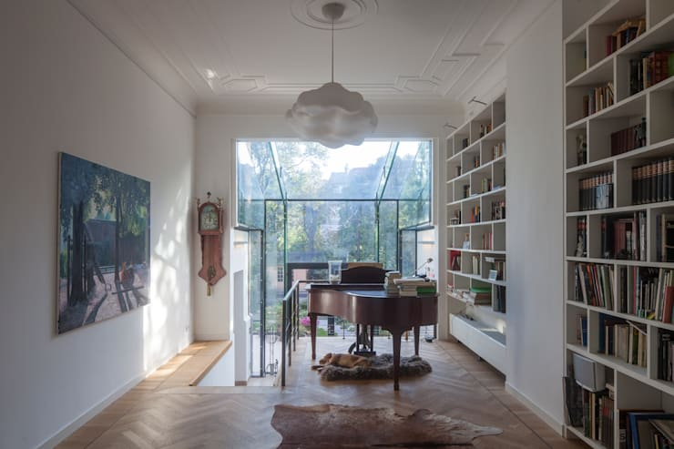 GLAZEN UITBOUW DUINWEG_04:  Huizen door HOYT architecten