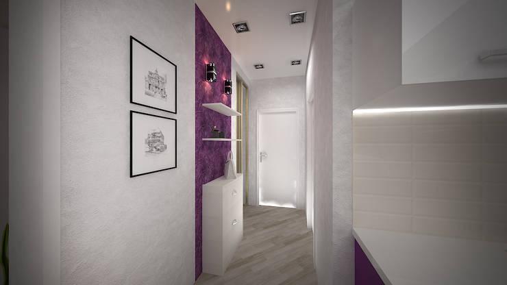 Превращение однокомнатной квартиры в двухкомнатную: Коридор и прихожая в . Автор – дизайн-бюро ARTTUNDRA